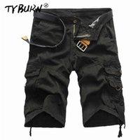 Pantalones cortos para hombres Tyburn Cargo Men Cool Camuflaje Verano Algodón Casual Pantalones cortos Ropa de marca Cómodo Camo