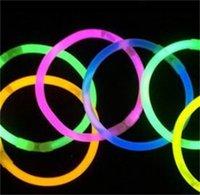 Glödpinnar Armband Halsband Rave Neon Multi Color Flashing Light Stick Fiesta Concert Dance Prom Festival Home Party Tillbehör 178 V2