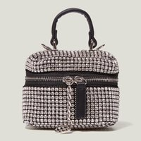 Evening Bags Shiny Rhinestone Mini Shoulder Brand For Women 2021 Hit Winter Luxury Designer Travel Cool Party Totes Crossbody Handbags