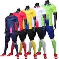 2019 New Sports Traje Hombres Child Soccer Jerseys Set Blanco Personalizar Boys Mujeres Futbol Training Uniforms Uniformes Chándal de fútbol Jersey