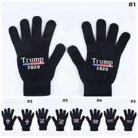 Трамп 2020 Перчатки хранят Америку Отличное письмо Печатные Пять Перчатки Палец Открытый Спортивные Спортивные Спортивные Зима Теплые варежки MMA2963