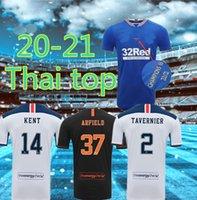 Hommes Katic Glasgow Davis Soccer Jerseys 20 21 Morelos Tavernier Murphy Kent Jack Jack Jack Arafield Rangers Docherty Kids + Chaussettes Football Kit