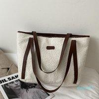 hbp lamb plush ladies handbag large capacity autumn and winter new trendy wild fur lazy oneshoulder tote bag