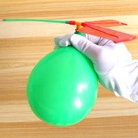 Bola de voo de helicóptero de balão de aeronaves será chamado de criança com brinquedo apito Enviar 10 balões e uma tampa de sopro 835 v2