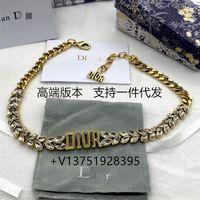 Designer de luxo moda colar dijia / dajia wheat orelha bracelete latão letra letra clavícula cadeia cavalo olho fazer pulseira de estilo antigo mulheres simples