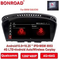 Car Video Bonroad Qualcomm Snapdragon Android 10.0 Multimedia Radio Player For 5 Series E60 M5 M3 E61 E63 E64 E90 E91 E92 E93
