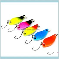Baits Sports & Outdoors100Pcs Metal Lures Hard 3Cm 5G Spinner Spoon Jigging Bait Fishing Tackle Mix Color Drop Delivery 2021 Q0O9F
