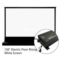 Vivid Storm 120inch الكهربائية الآلية أبيض السينما شاشة العرض الطابق ارتفاع توتر مع 4K HD ل رمي العادي الإسقاط غرفة مظلمة داخلي