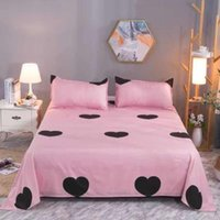 Sheets & Sets Soft Bed Sheet Polyester Cotton Linens 230cm Width Bedsheet Home Textiles Skin-friendly Bedspread (case Need Order)