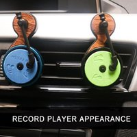 Car Air Freshener Outlet Perfume Clip Record Player Design Easy-cleaning Vet For Driving