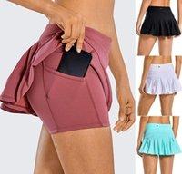 Yoga Faldas plisadas Deportes Pantalones cortos deportes Fitness Fitness Mujeres Underwear Ocio Rápido Secado Culturismo Moda Casual Tenis Golf Biker Falda