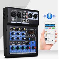 Professionele audiomixer voor streaming 4-kanaals digitale mengconsole DSP-versterker Stereo DJ Studio Sound Board Console