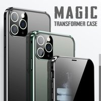 Full Cover Phone Case For 11 XSmax Metal Frame All-inclusive Lens Anti-fall Magnetic XR 11Pro Glass Shell Window Stickers
