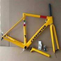 الأصفر مجارف V3RS القرص القرص الكربون الطريق الدراجة الإطار دراجة إطارات 6 ألوان لامعة النهاية