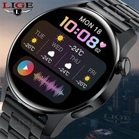 LIGE BW0256 New Bluetooth Call Smart watch Men Full touch Screen Sports fitness watch Bluetooth is Suitable For Android ios Smart watch