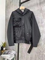 Женская куртка с капюшоном Parkas Весна осенний стиль с поясом Slim Corset для леди на обручке Куртки из кармана Outsize Classcia Windreaker Coats S-L