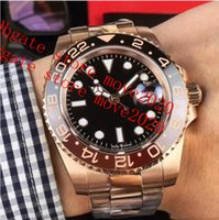 Move2020 Mens Super BP Factory Watch V2 ETA 40mm GMT Batman Cerâmica 18K Gold Cal.2813 Relógios automáticos