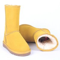 Boots Classic Australia Women Snow Leather Ankle Warm Winter Woman Shoes Big Size 35-45
