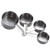 Yeni 4 adet Paslanmaz Çelik Ölçüm Bardaklar Aracı İstiflenebilir Kahve Süt Tozu Baharat Ölçümü Kaşık Setleri Ev Mutfak Pişirme Araçları EWB6775