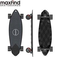 [US Eu Instock] Longboard elettrico Max2 Pro Smart Scooter Skateboard Dual Motor Drive con telecomando Batteria al litio integrata MaxFind Piccola piastra di pesce