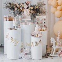 5 stücke produkte schärpen runde zylinder socktal display art decor colinths säulen für diy hochzeit dekorationen urlaub