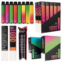Puff xxl e cigarros barras descartáveis vapes 650mAh bateria de energia 1600Puffs 3.2ml vagens cartuchos dispositivo vape starter kits sem manutenção bang