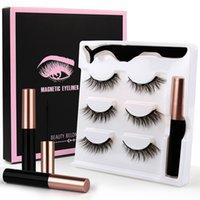 3D Mink Eyelash Makeup Magnetic Eyelashes Soft Lashes With Eyeliner Tweezers Set Natural False Lash Short Faux Cils