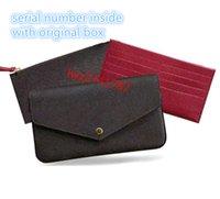 Número de série dentro de alta qualidade Moda mulher sacola de couro genuíno bolsa bolsa bolsa de ombro cluth carteira com caixa