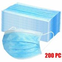 50/100/200 PC Masque jetable Masque industriel 3PLY Boucles d'oreilles Masques réutilisables Mode Tissu Sanitaire Protection solaire