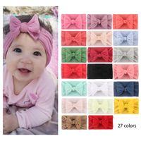 Bebé turbante bebe bowknot diadema niña princesa hairbands arco nudo suave headwraps nylon pelo accesorio