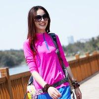 Camiseta de secado rápido de manga larga delgada Camiseta de manga larga para mujer Ocio deportivo Running Traje elástico para mujer Secado rápido de las mujeres