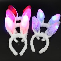 Party Decoration LED Light Luminous Ears Flashing Headdress Head Hair Band Hoop Toy Kid Birthday Supplies S2021302