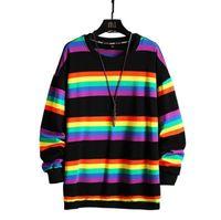 2021 Trending stripe pattern sweater mens womens Hoodie Top quality long sleeve O-neck pullover Hoodies Sweatshirt jumper Casual Designer Couple Clothing