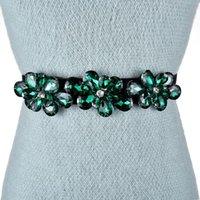 Belts Fashion Dress Belt Rhinestone Inlaid Elastic Ladies Casual Black Decorative Pants