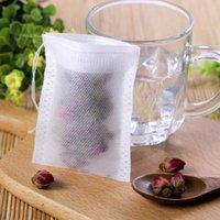 أدوات القهوة الشاي هايت الجودة المحمولة 100 قطعة 8x10 سنتيمتر القطن الشاش قابلة لإعادة الاستخدام الرباط التعبئة حمام الصابون الأعشاب تصفية أكياس الشاي 399 S2 XQ7E