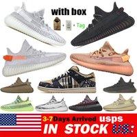 Kanye Dunk Hombres Mujeres Running Shoes Yecheil Yeezreel Antlia Estático Reflexivo Cebra Sneakers 36-48 en el almacén de los Estados Unidos con caja
