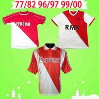 1977 1982 1996 1997 1999 2000 Versione retrò Monaco Soccer Jersey Classic Home As Ben Yedder Jovetic Golavin Jorge Vintage Camicia da calcio Uniforme