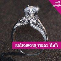 Brand New Luxury Jewellery 10KT Weißgold gefüllt mit klarem 5A Zirkonia CZ Party Office Damen Hochzeitsverpflichtung Band Ringgift