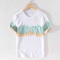 Удобный короткий сблестник бренда мужская футболка мода повседневная белые футболки для мужчин круглые шеи футболка мужчина мужчина мужчина 210527