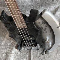 4 Strings Gene Simmons Balta İmza Siyah Elektrik Bas Gitar Düzensiz Şekil Çin Gitar, Özel El Yapımı Bass