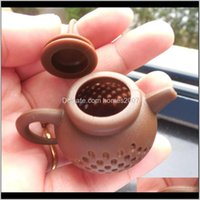 Coffee Tools Drinkware Kitchen, Dining Bar & Gardensile Infuser Teapot Shape Reusable Filter Diffuser Home Tea Maker Kitchen Aessories 7 Col