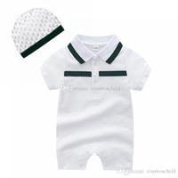 casual 2021 Summer Designer toddler baby romper infant boy Jumpsuits Jumpsuit short Sleeve Cotton Pajamas Rompers kids girl clothes