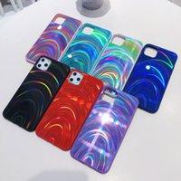 Cajas de teléfono celular Funda láser del brillo del arco iris para el iPhone 13 12 11 PROMAX 12MINI X XR XS MAX 7 8 6 6S PLUS PULIO DE FRUEÑA DE SILICONA SUAVE