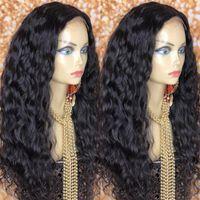 Perruques de la dentelle 100% véritable perruque d'ondes d'eau de cheveux humains Perruque de fermeture de 8-30 pouces mouillée et ondulée pour Womem Fast