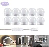 5V Led Makeup Vanity Lights Bulb Hollywood 10leds Table Mirror Light USB Wall Mirrors Lamp For Dressing