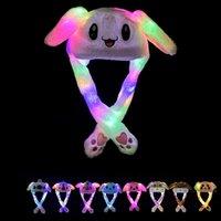 LED Luz de peluche de peluche Historieta Animal de dibujos animados para conejo Conejito Conejito Oído Moviendo Sombreros Ligeros Adultos Niños Navidad Invierno Sombreros Cálidos DBC 661 V2