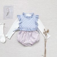 Waistcoat Baby Girls Vest Autumn Winter Frilly Lace Kids Bibs For Toddler Tops Children Cotton KniWaistcoat Tinfant