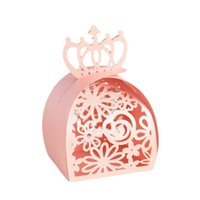 Gift Wrap 50 100pcs Wedding Party Favor Box Bags Rose Laser Cut Hollow Candy Dragee Baptism Chocolate Packaging Wrapping Paper