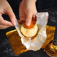 1 set = 50pcs oro alluminio foglio caramella cioccolato biscotto avvolgendo carta di latta party fai da te metallo goffratura regalo imballaggio imballaggio imballaggio carta craft ewf7688