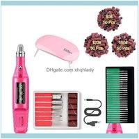 Health Beauty Kits & Salon Mini Uv Lamp Nail Set Tool Gel Polish Remover Sandpaper Roll Kit Electric Manicure Drill Bit Professional Art Nai